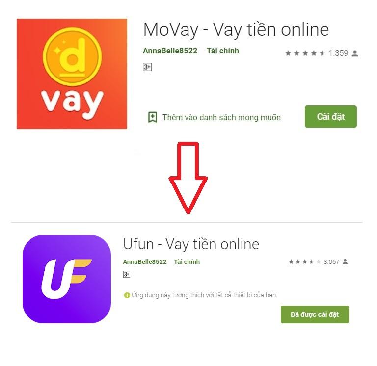 Movay (Ufun) – Vay tiền không thế chấp online biết kết quả nhanh chóng