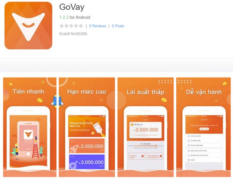 Govay – Cho vay tiền online đơn giản qua di động với thủ tục nhanh chóng